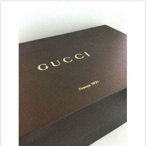 Authentic GUCCI Brown Shoe Heels Box Cardboard